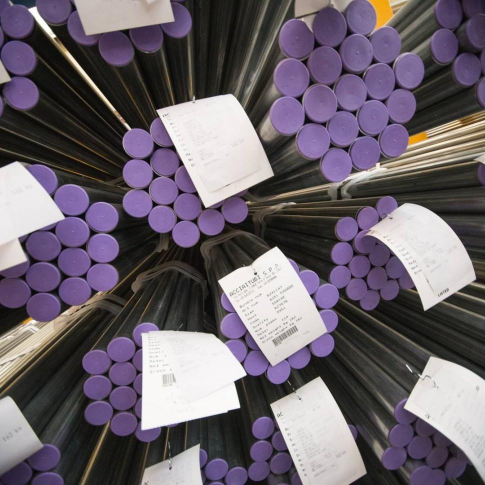 La producción de los tubos de acero