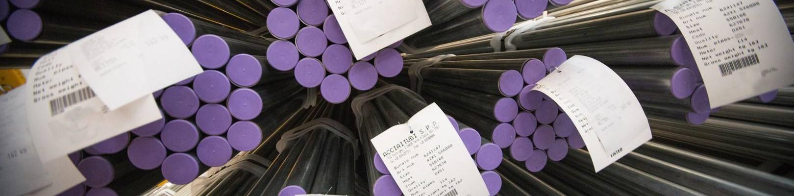 La gama de tubos de acero en las instalaciones de Acciaitubi