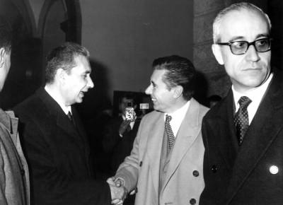La ceremonia de apertura el 23 de Mayo de 1964 en presencia delPrimerMinistro Aldo Moro.